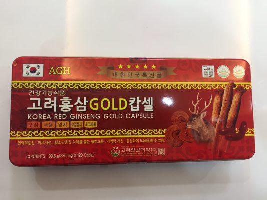 Viên đạm sâm nhung hươu linh chi Hàn Quốc